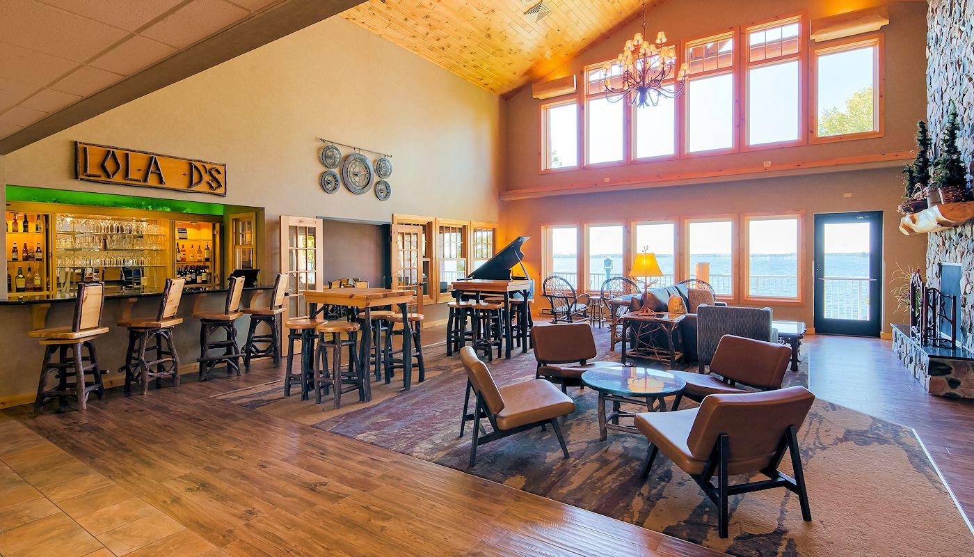 Fireside Lobby - The Lodge on Lake Detroit